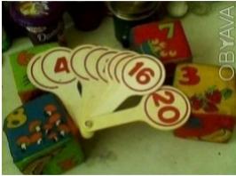 Веер из букв и цифр по 20 грн. Счётный набор из цветных фигурок.палочек и цифр 2. Одесса, Одесская область. фото 2