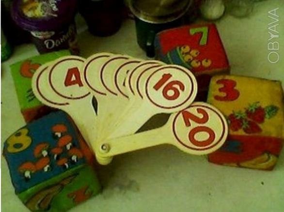 Веер из букв и цифр по 20 грн. Счётный набор из цветных фигурок.палочек и цифр 2. Одесса, Одесская область. фото 1