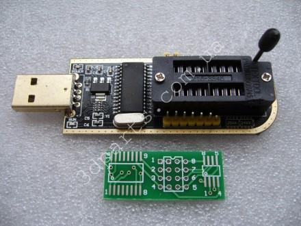 Flash BIOS USB программатор CH341A 24 25 серии EEPROM + SOIC8 SOP8. Александрия. фото 1