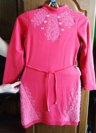 Продаю платье с джемпером на девочку 7 лет. Николаев. фото 1