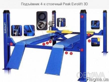 подъемник четырехстоечный электрогидравлический Evrolift 3D