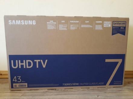 Samsung UE43NU7192 (PQI1300Гц, 4K, Smart, UHD Engine, HLG, HDR10+, Dolby Digital. Самбор. фото 1