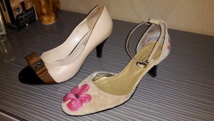 туфли женские р-р 37, б/у в очень хорошем состоянии. Сумы. фото 1