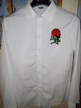 Блузка,рубашка белая 44_46р.новая женская. Кременчуг. фото 1