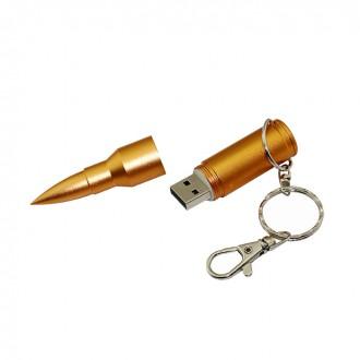 USB флешка Techkey пуля золотоая 16GB. Киево-Святошинский. фото 1