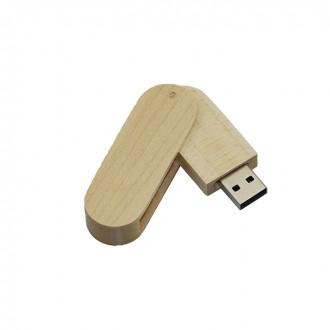 Флешка Shandian овальная выкидная деревянная, клен 16GB. Киево-Святошинский. фото 1