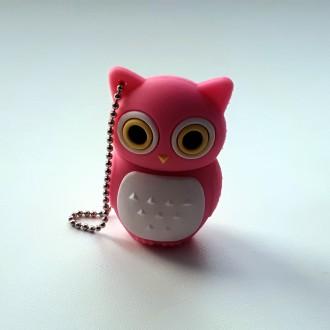 USB флешка Shandian Сова розовая, 16GB. Киево-Святошинский. фото 1
