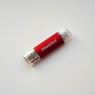 USB флешка Shandian Micro-USB Red, 16GB. Киево-Святошинский. фото 1