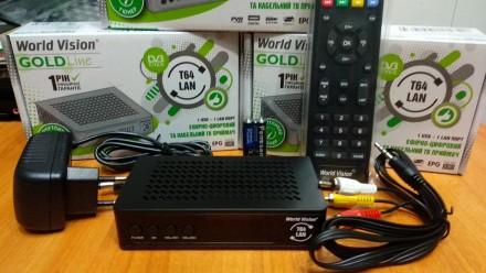 Новинка World Vision T64LAN - Т2 Тюнер DVB-T2 с Ethernet портом. Харьков. фото 1