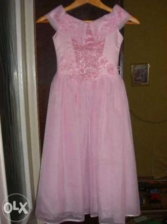 Нарядное платье для девочки 6- 10 лет. С кринолином. Для утренника и праздника.. Бердянск. фото 1