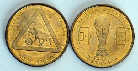 ЧМ по футболу 2006 памятная медаль команда Швеции. Киев. фото 1