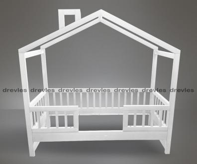 Кровать домик белая с ящиками.. Чернигов. фото 1