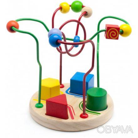 Игрушка: два в одном. В наборе: 4 основные геометрические фигуры и пальчиковый . Киев, Киевская область. фото 1