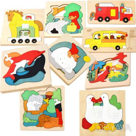 Необычность этой игрушки в том, что пазл нужно укладывать в три: в одной игре н. Киев, Киевская область. фото 1