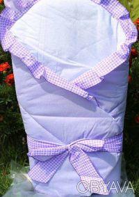 Конверт-одеяло для детей на выписку Milpol лиловый. Киев. фото 1