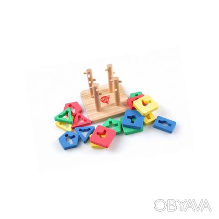 Эта развивающая игра познакомит вашего малыша с основными цветами и геометрическ. Киев, Киевская область. фото 1