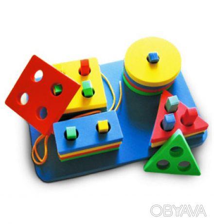 Набор состоит из круглой, квадратной, прямоугольной и треугольной пирамидок. Ра. Киев, Киевская область. фото 1