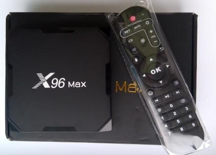 Tv Box X96 Max (S905X2, 4/64GB, Android 8, bluetooth, SPDIF, WiFi 5G). Киев. фото 1