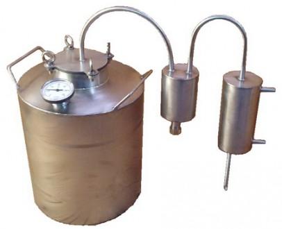 Дистиллятор самогонный аппарат пищевая нержавеющая сталь, полный комплект. Киев. фото 1