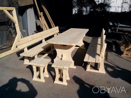 Садовая мебель из дерева под заказ.Покраска,сборка.. Чернигов, Черниговская область. фото 1