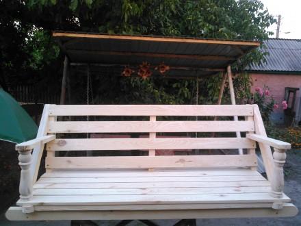 Скамейка для садовой качели. Нежин. фото 1