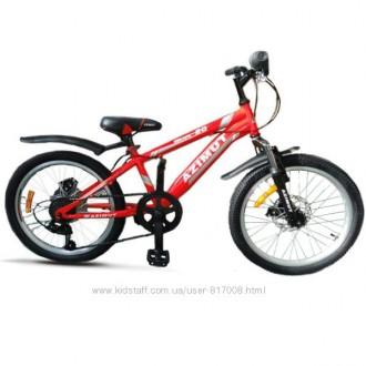 Азимут Ескаре 20-дюйм велосипед детский спортивный горный дисковые тормоза Azimu. Хмельницкий. фото 1