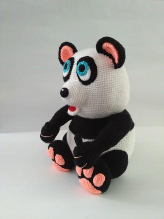 Мягкая Большая игрушка Панда вязаная крючком. Славута. фото 1