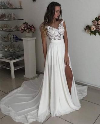 Свадебное платье с разрезом. Киев. фото 1
