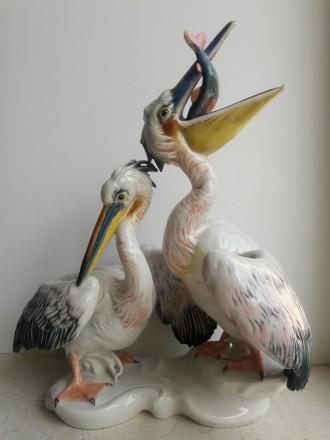 Два пеликана, Karl Ens, Германия 1920-30 гг. Львов. фото 1