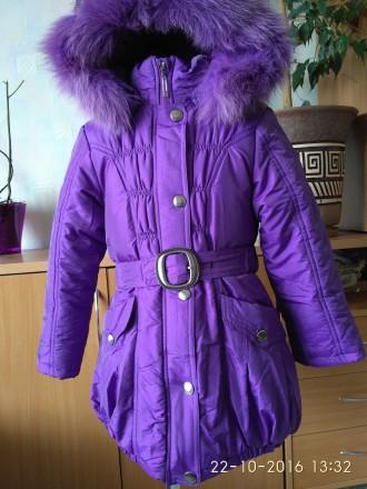 Зимняя куртка-пальто для девочки, фирма DONILO  116, 122 и 128 размеры. Белая Церковь. фото 1
