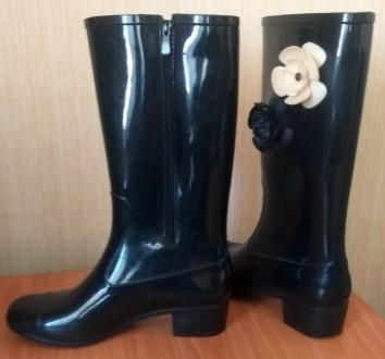 Резиновые сапоги (с утепленным носком) на невысоком удобном каблуке (3 см.),   з. Северодонецк, Луганская область. фото 3