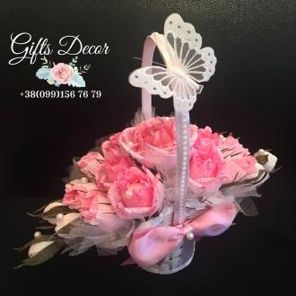 Букет из конфет «Элегантность» Оригинальный подарок на день рождения, свадьбу. Киев. фото 1