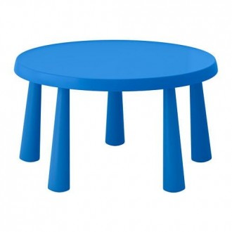 IKEA МАММУТ Стол детский, для дома и улицы синий, 85 см. Киев. фото 1