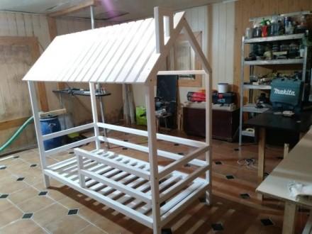 Кроватка-домик в НАЛИЧИИ из натурального дерева. Одесса. фото 1