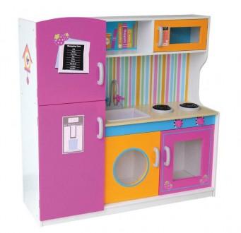 Кухня 31809из дерева с водой детская деревянная с холодильником. Хмельницкий. фото 1