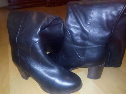 Жіночі шкіряні чобітки. Ставище. фото 1