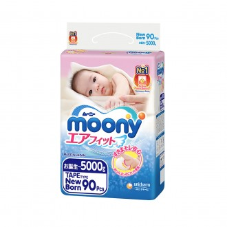 Подгузники Moony NB 0-5 кг 90 шт. (4903111243785). Киев. фото 1