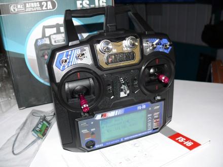 Комплект радиоаппаратуры Flysky FS-I6, пульт + приемник.. Хмельницкий. фото 1