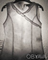 Туничка для девочки белая в белый горох ORCHESTRA France. На спинке молния и за. Київ, Київська область. фото 3