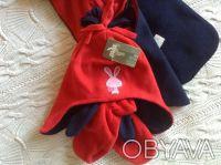 Продаю новый флисовый набор красно-синего цвета ТМ Мах, длина шарфика - 125 см, . Киев, Киевская область. фото 4