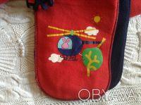 Продаю новый флисовый набор красно-синего цвета ТМ Мах, длина шарфика - 125 см, . Киев, Киевская область. фото 3
