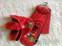 Продаю новый флисовый набор красно-синего цвета ТМ Мах, длина шарфика - 125 см, . Киев, Киевская область. фото 2