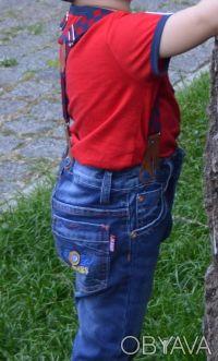 Стильные джинсы синего цвета для маленьких модников. Зауженная модель ( но не в . Харків, Харківська область. фото 4