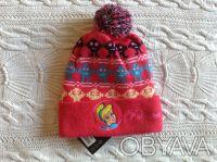 Продаю новую теплую шапочку розового цвета с принцессой Disney, указан размер 50. Киев, Киевская область. фото 2
