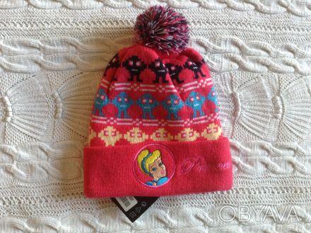 Продаю новую теплую шапочку розового цвета с принцессой Disney, указан размер 50. Киев, Киевская область. фото 1