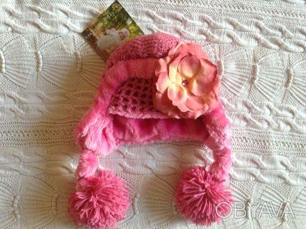 Продаю абсолютно новую с биркой теплую розовую шапочку Jamie rae hats. Указан ра. Киев, Киевская область. фото 1