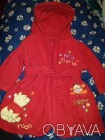 Яркий фирменный банный халат Disney,оригинал. 0-6 м.Подойдет иальчику и девочке!. Днепр. фото 1