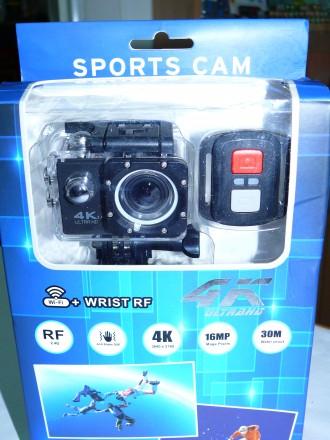 Экшен видеокамера камера V60S RF 4K, WiFi, аналог GoPro, с пультом Д/У. Чернигов. фото 1