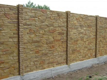 Цветные бетонные заборы,установка по Запорожью.. Запорожье. фото 1