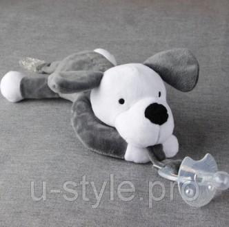 Соска-пустышка для младенцев с мягкой игрушкой-держателем!    Забавная игрушк. Київ, Киевская область. фото 8
